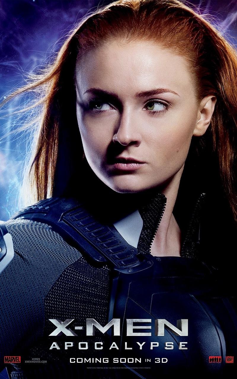 Sophie Turner on X-Men: Apocalypse movie poster