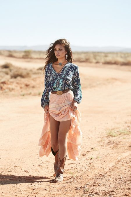 Shanina Shaik Models Western Looks for Spell's Fall 2016 Collection
