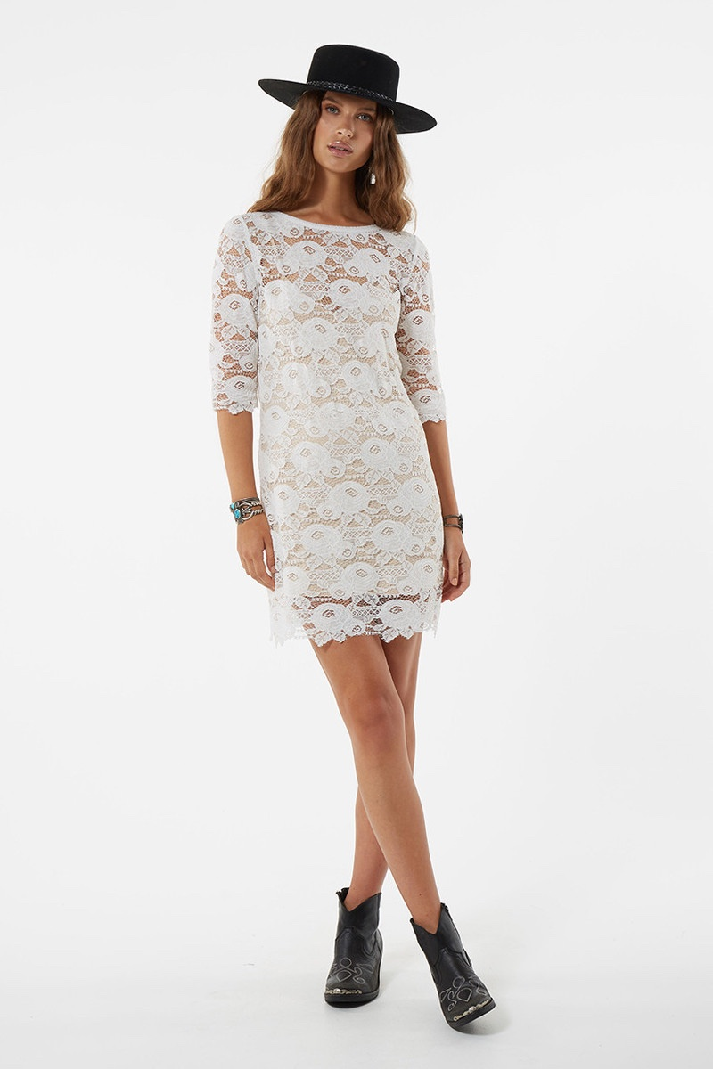 Spell Rosamund Lace Mini Dress