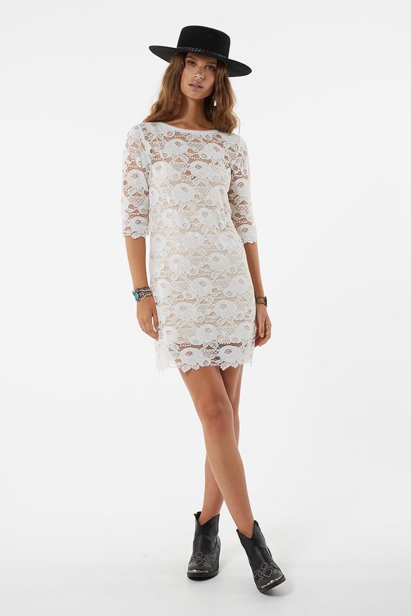 Spell Rosamund Lace Mini Dress