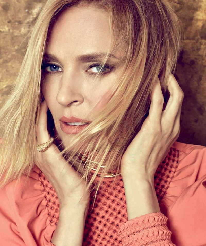Uma Thurman Turns Up the Glam for Harper's Bazaar Mexico Uma Thurman
