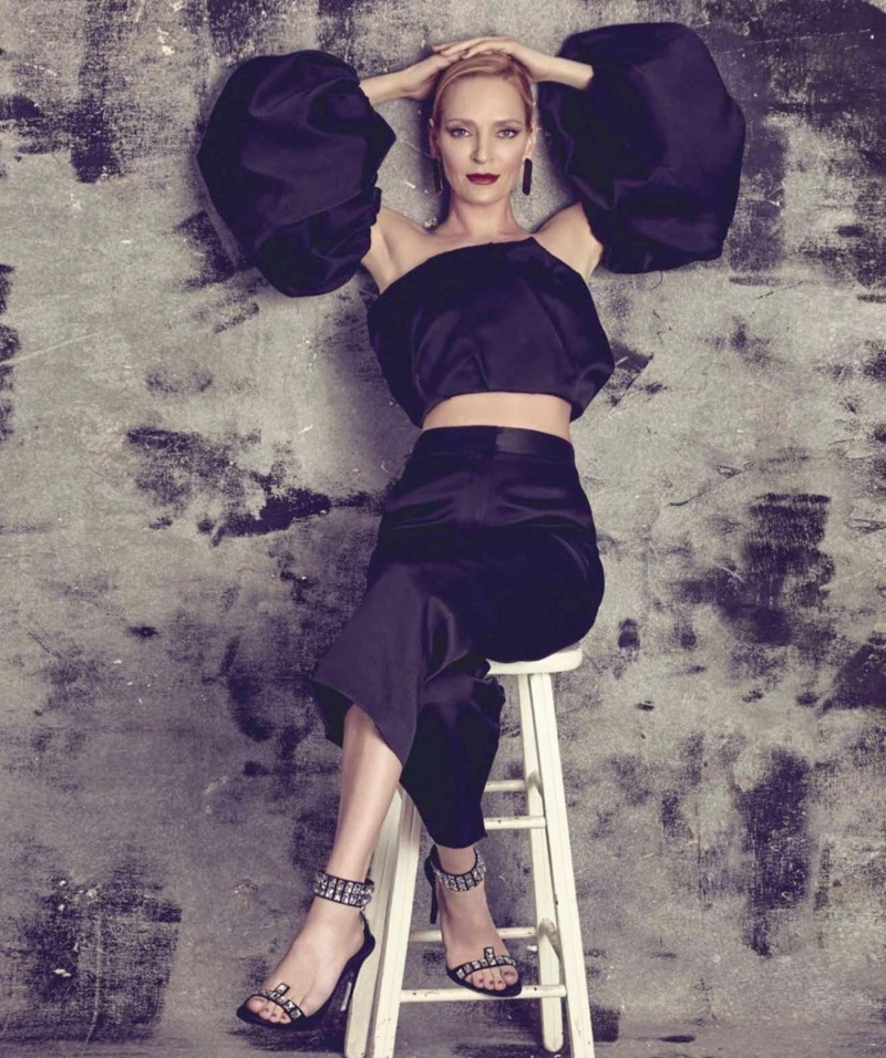 Uma Thurman Turns Up the Glam for Harper's Bazaar Mexico