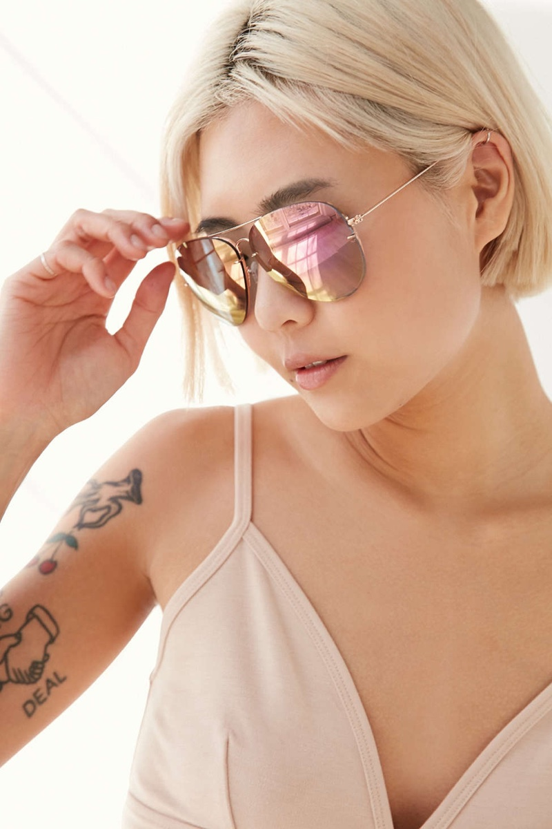 Urban Outfitters Miami Flash Aviator Sunglasses