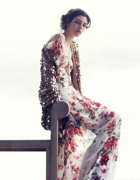 Vittoria Ceretti Models Spring's Romantic Dresses for Vogue China