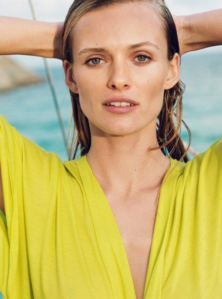 Edita Vilkeviciute Hits the Beach for Zara Home's Summer Line