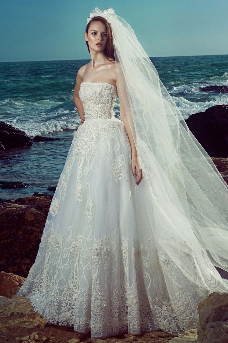 Zuhair Murad Bridal's spring 2017 collection features strapless ballgown