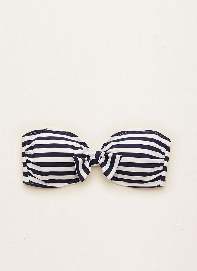 aerie Striped Bandeau Bikini Top