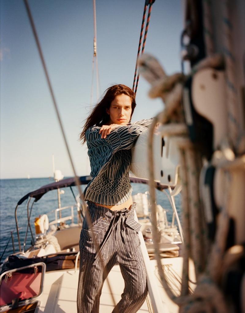Amanda Wellsh models vacation-ready styles for the fashion editorial