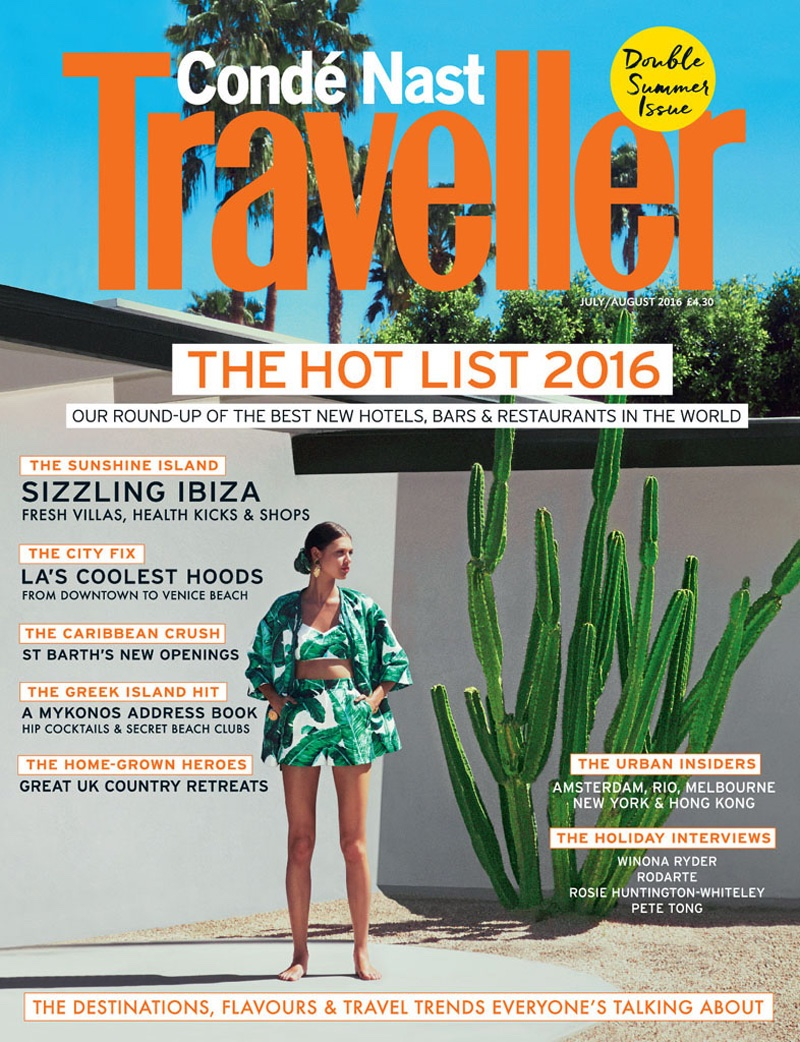 Anais Pouliot on Conde Nast Traveller July-August 2016 Cover