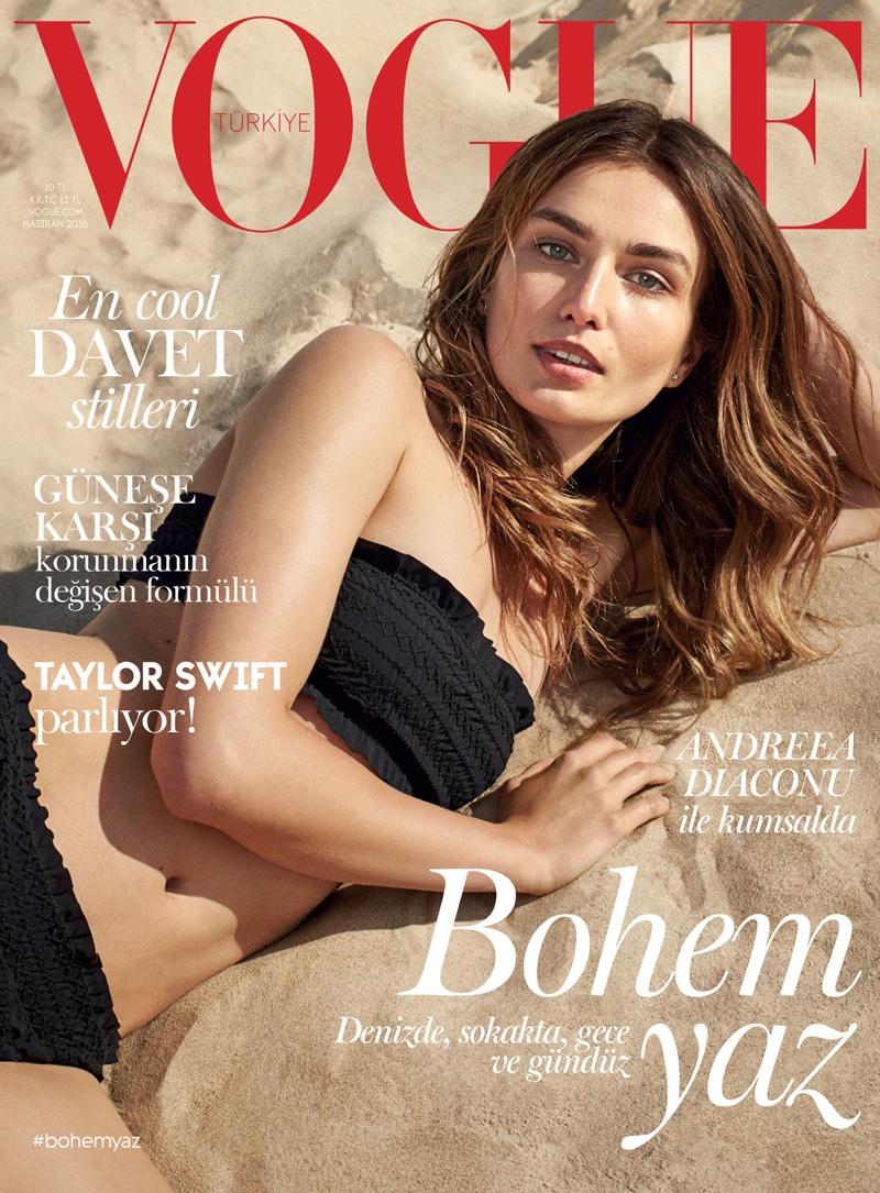 Andreea Diaconu on Vogue Turkey June 2016 Cover