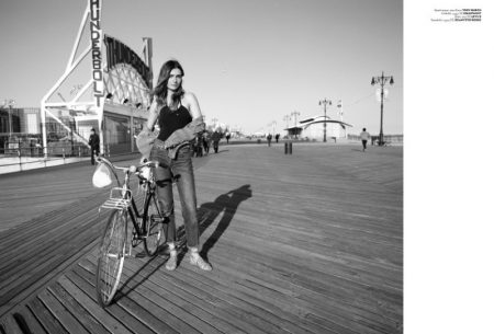 Andreea Diaconu Wears Laid-Back Swimsuit Looks in Vogue Turkey