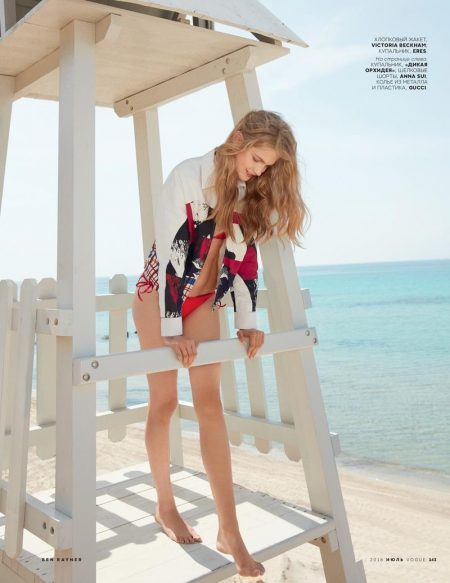 Aneta Pajak Embraces Summer's Most Colorful Prints in Vogue Russia