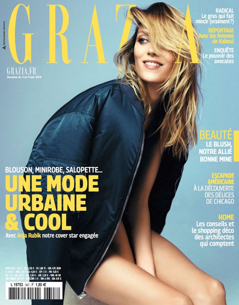 Anja Rubik on Grazia France June 3, 2016 Cover