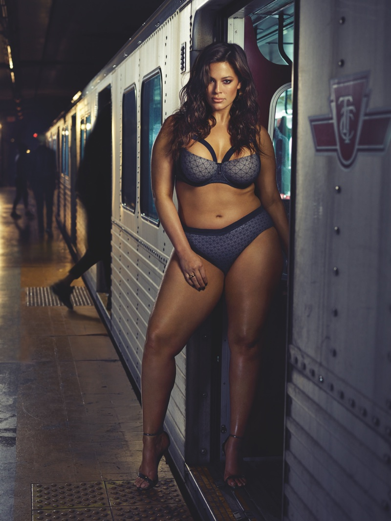 Ashley Graham appears in Addition Elle fall 2016 collaboration campaign