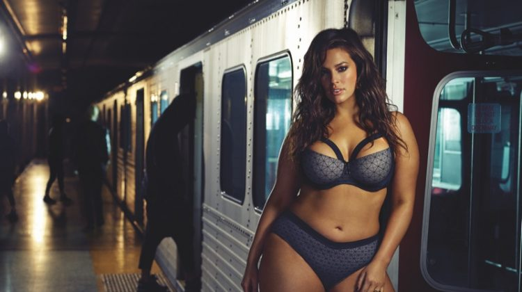 Ashley Graham Takes Over the Subway for Steamy Lingerie Ads
