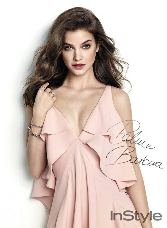 Barbara Palvin wears lingerie inspired looks for the editorial
