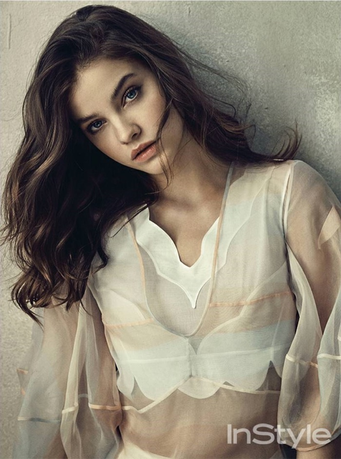Barbara Palvin wears sheer Dior dress with cropped top