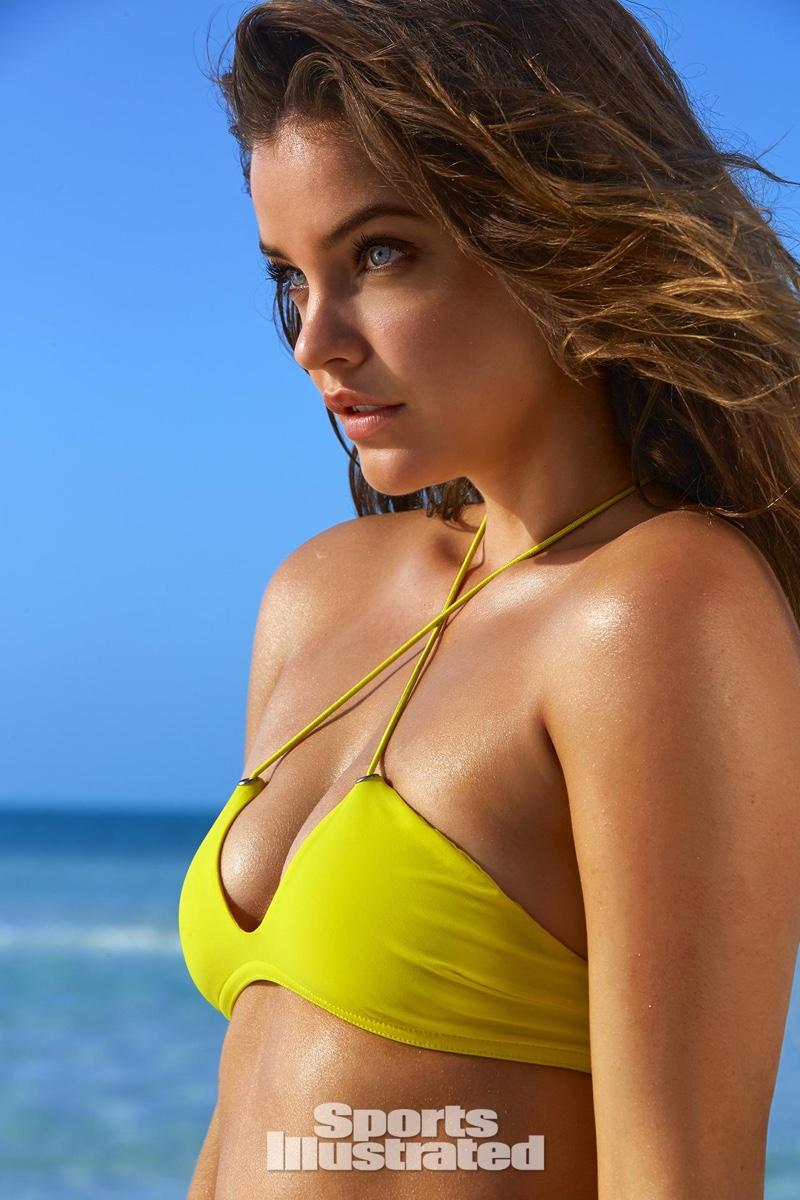 2016 SI Swimsuit Rookie of the Year Barbara Palvin wears yellow bikini top