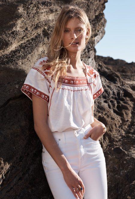 Constance Jablonski Soaks Up the Sun in Madewell's Beach Styles