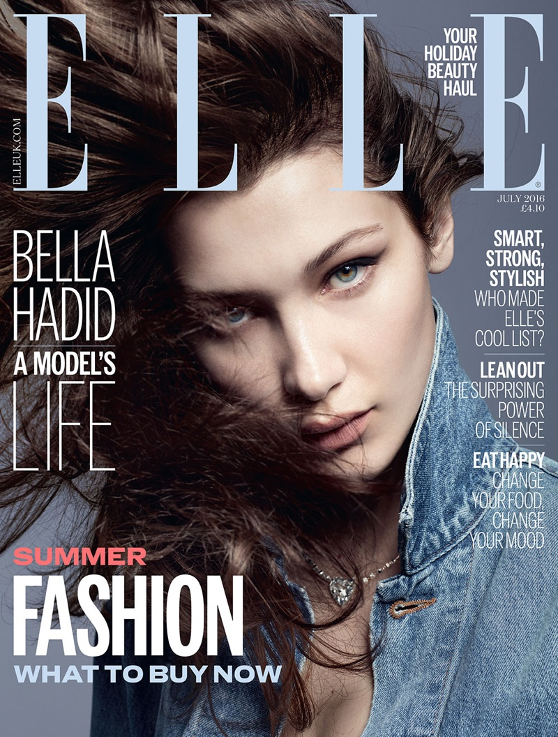 Bella Hadid on ELLE UK July 2016 Cover