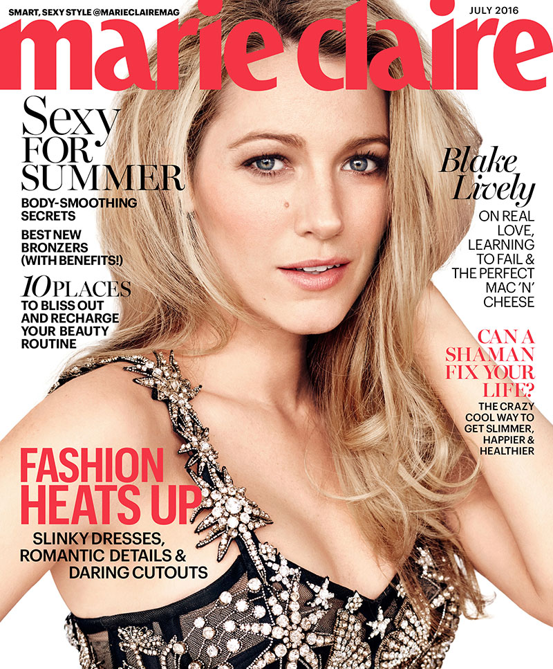 Blake Lively on Marie Claire July 2016 Cover