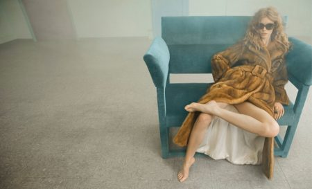Julia Hafstrom Has a Lounge Session in Blumarine's Fall 2016 Ads
