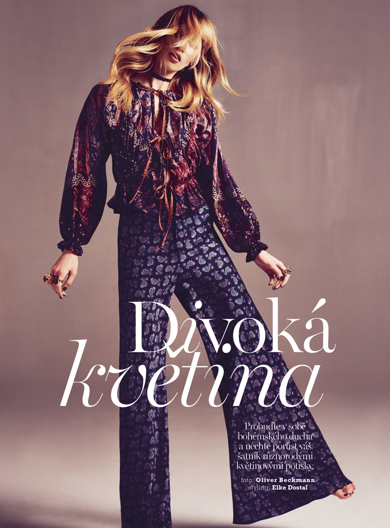 Lian Schreuder stars in Marie Claire Czech's June issue