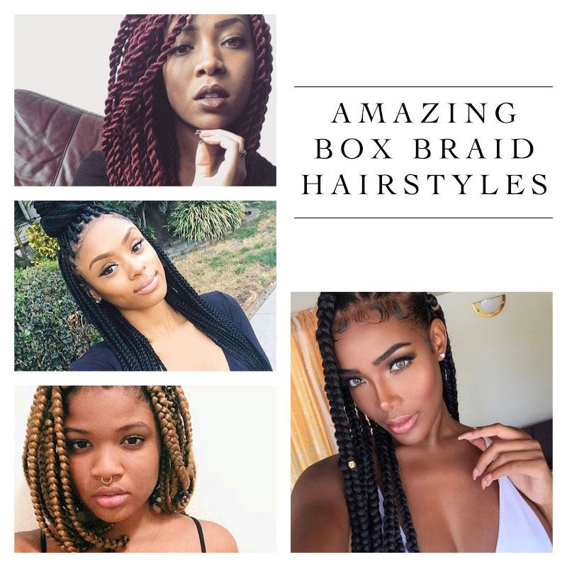 Be inspired by these box braid hairstyles
