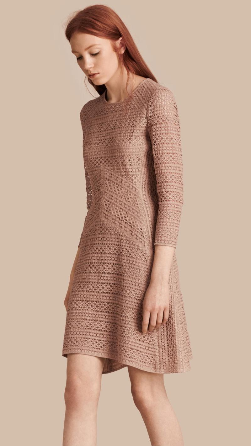 Burberry English Lace Panel Dress
