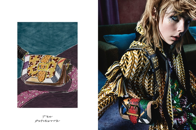 Burberry collaborated with illustrator Luke Edward Hall on its new campaign