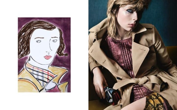 Edie Campbell for Burberry's June 2016 campaign