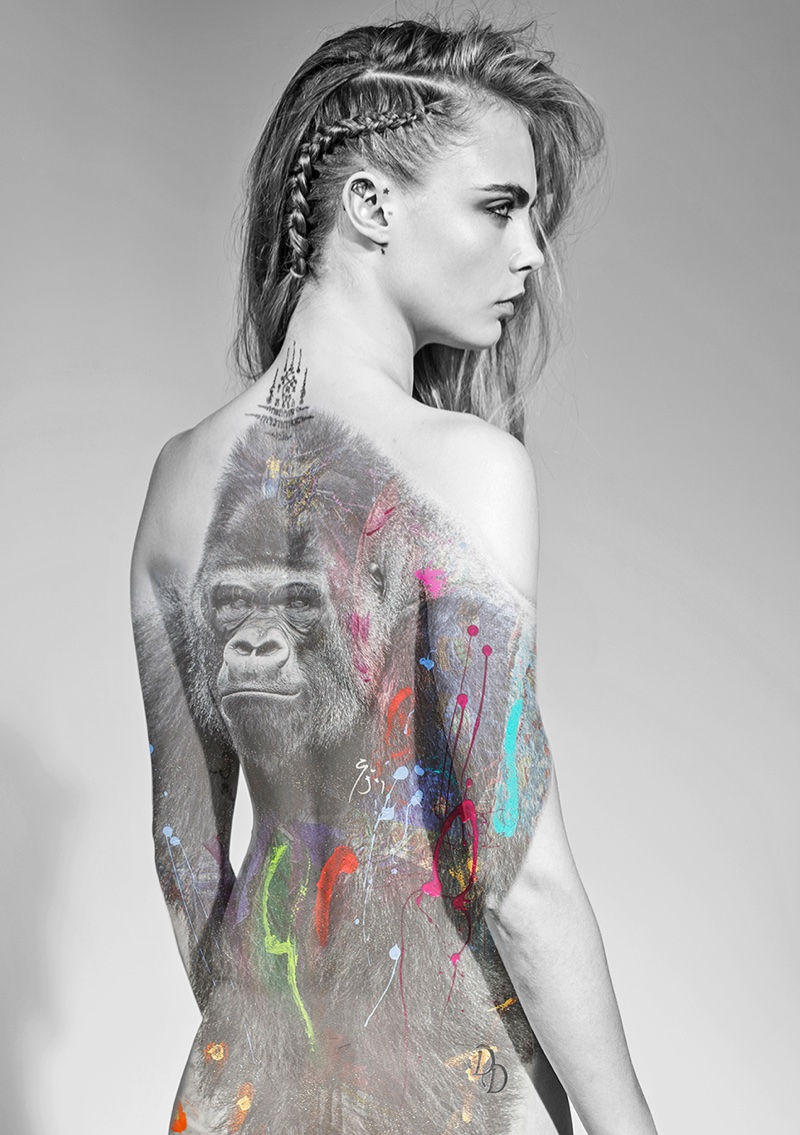 Cara Delevingne for I'm Not a Trophy campaign
