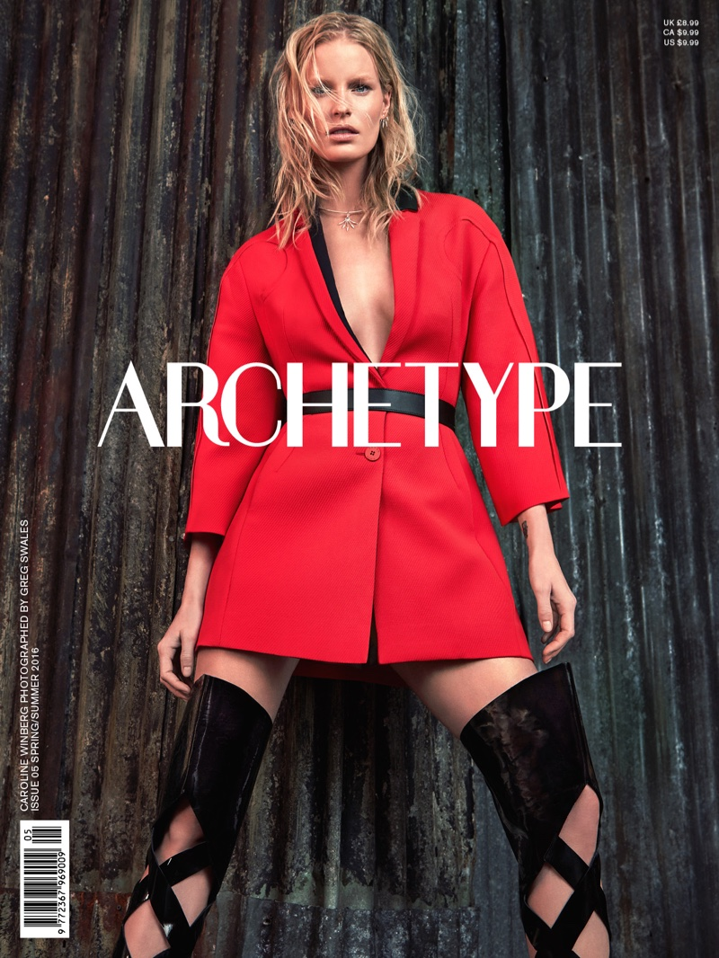 Caroline Winberg Wears Cutting Edge Looks For Archetype