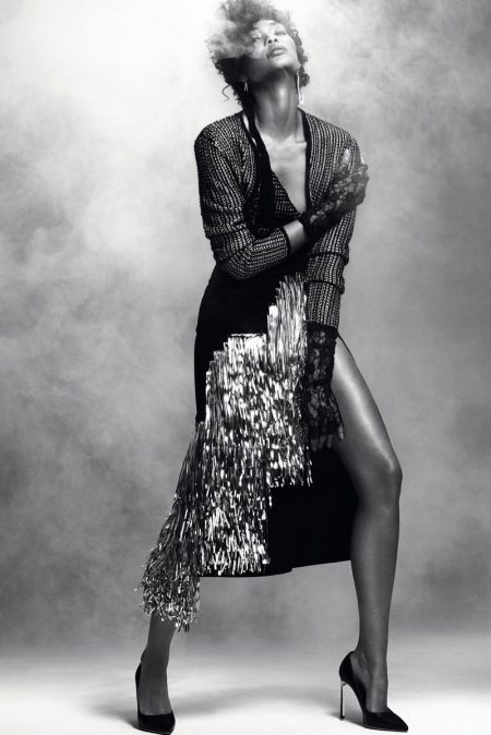 Chanel Iman Pays Homage to Prince in Harper's Bazaar Serbia Editorial