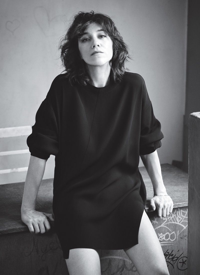 Charlotte Gainsbourg poses in effortlesly chic styles