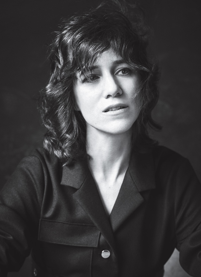 Getting her closeup, Charlotte Gainsbourg wears a shaggy hairstyle