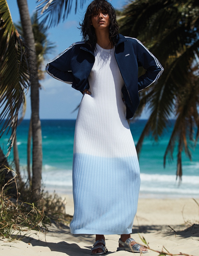 Photographed by Alvaro Beamud Cortes, Cora Emmanuel wears beach fashion for the editorial
