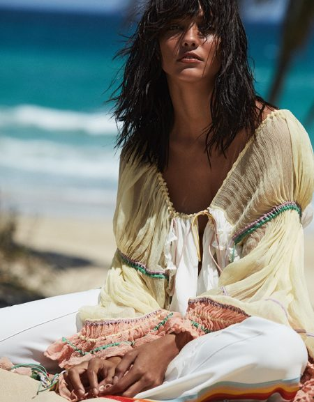 Cora Emmanuel Wears Relaxed Beach Fashions for Vogue Mexico