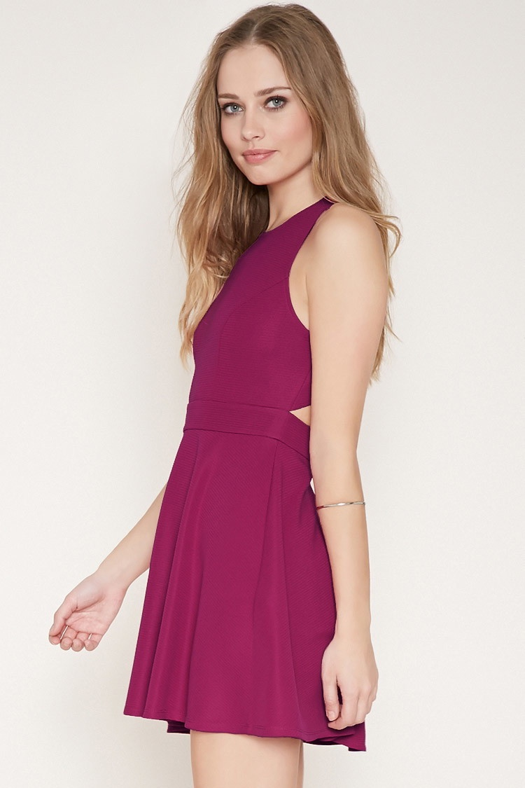 Forever 21 Cutout Back Fit & Flare Dress