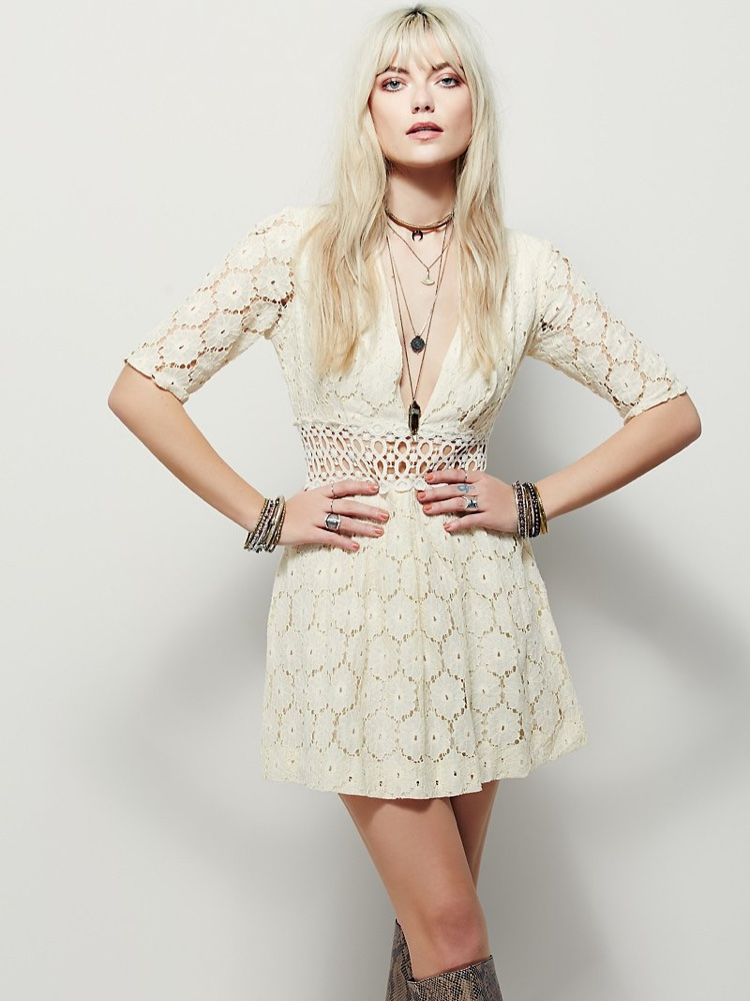 Free People Daisy Field Fit & Flare Dress