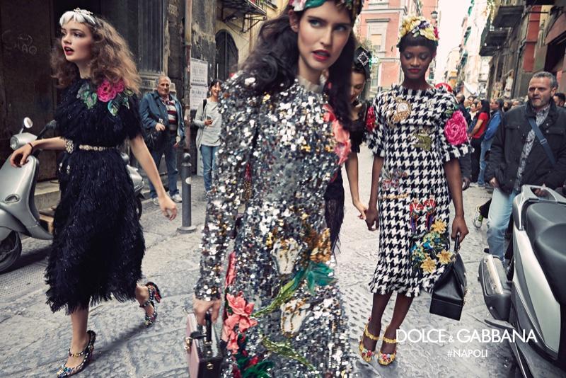 Sasha Kichigina, Bianca Balti and Mayowa Nicholas star in Dolce & Gabbana's fall-winter 2016 campaign