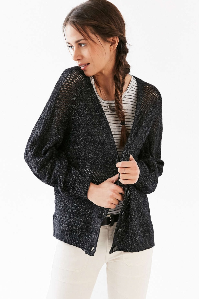 Ecote Dolman Cable Knit Cardigan