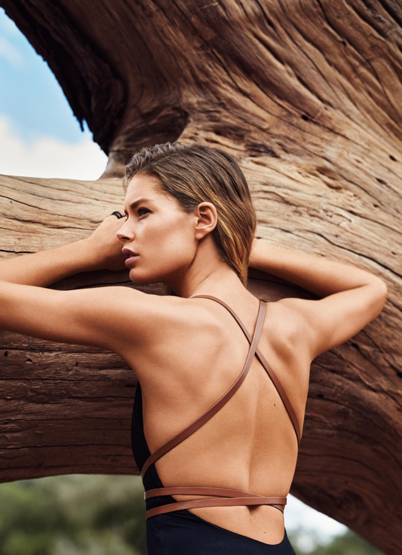 Editorial Glamour Makeup Professional Makeup Artist: Doutzen Kroes Flaunts Her Top Model Figure For Glamour