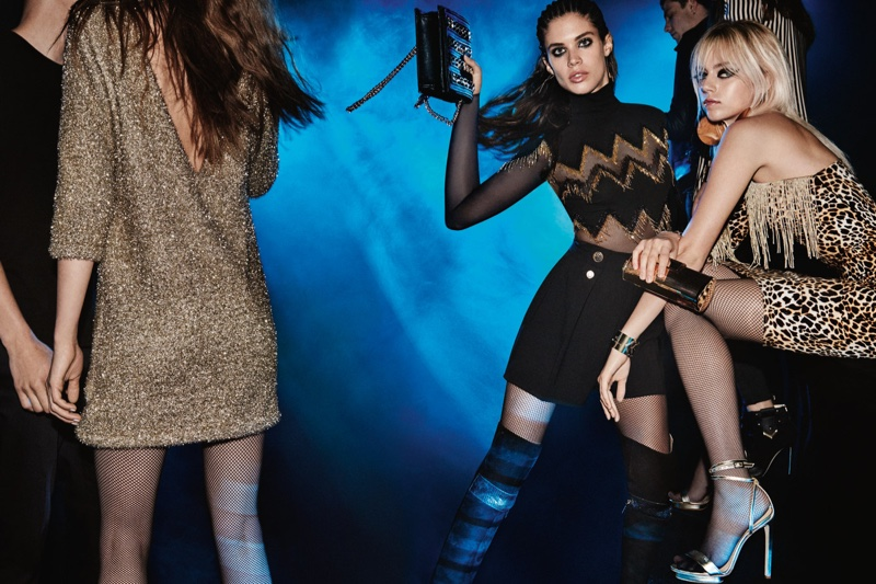 Sara Sampaio and Pyper America Smith pose in miniskirts and dresses in Elisabetta Franchi's fall 2016 campaign