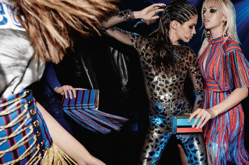 Leopard prints and stripes stand out in Elisabetta Franchi's fall-winter 2016 campaign