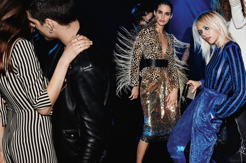 Elisabetta Franchi's fall-winter 2016 campaign puts the spotlight on fringe and sequins