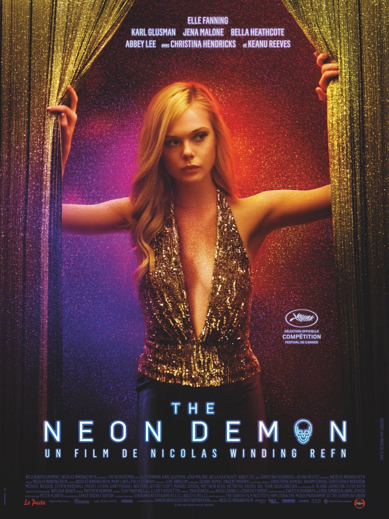 Elle Fanning on The Neon Demon movie poster