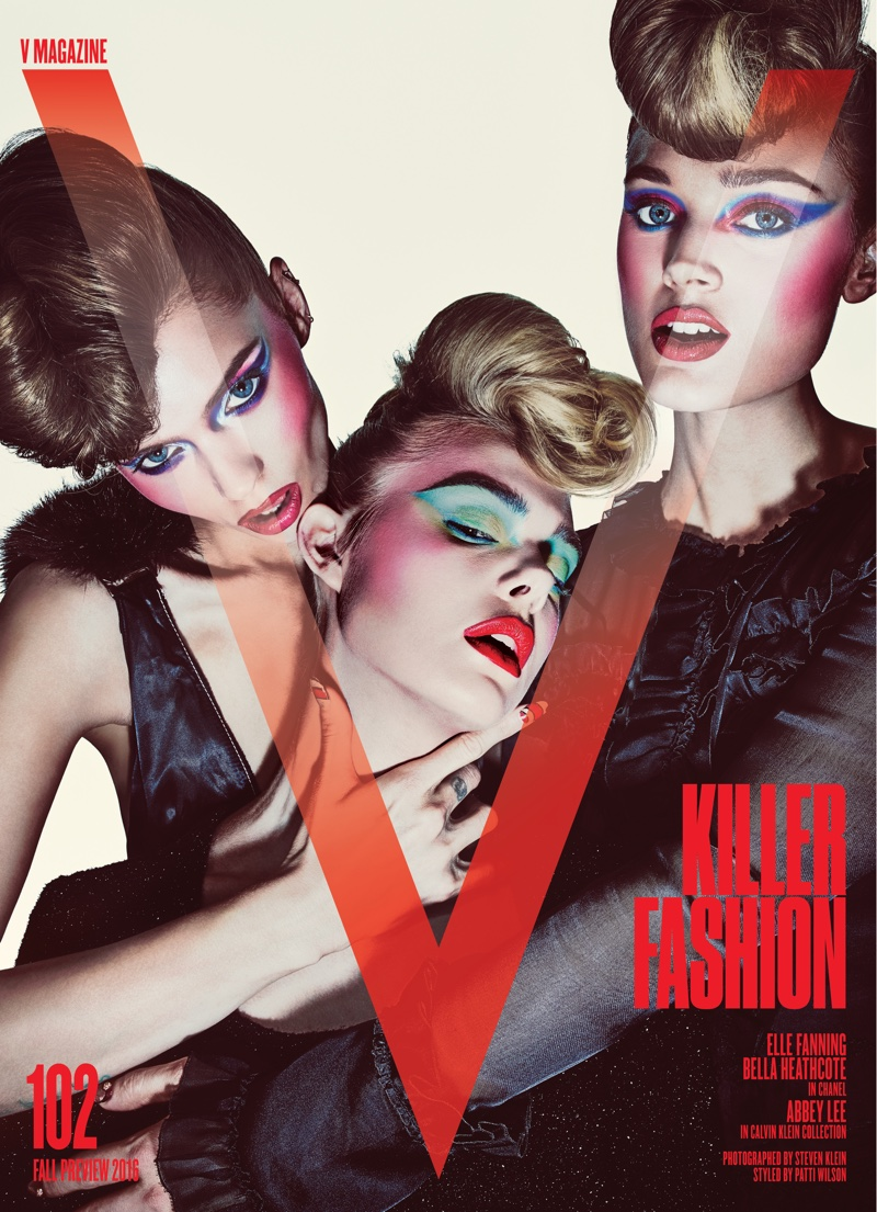Abbey Lee Kershaw, Elle Fanning and Bella Heathcote on V Magazine #102 Cover