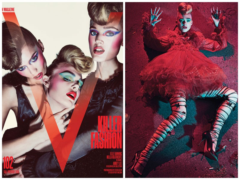 Elle Fanning Goes Full On Vamp for V Magazine's Pre-Fall Issue