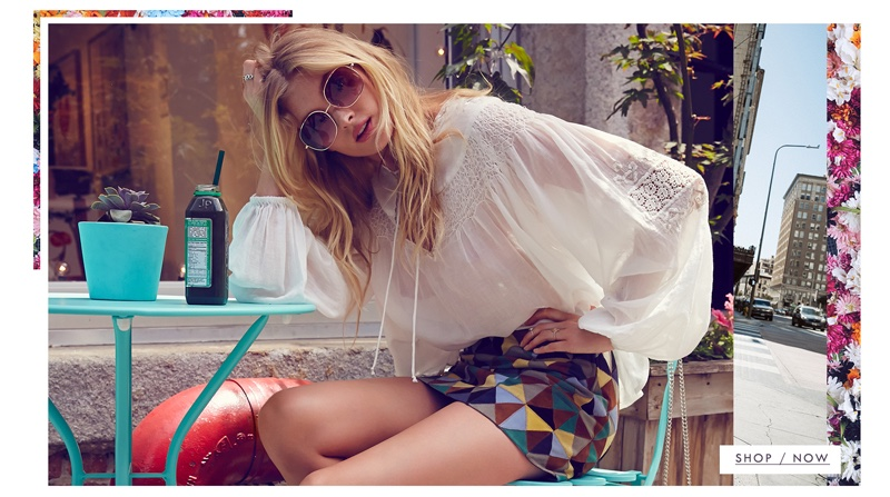 Free People Picnic in the Park Top, Up & Go Patchwork Suede Skirt and Charm School Sunglasses